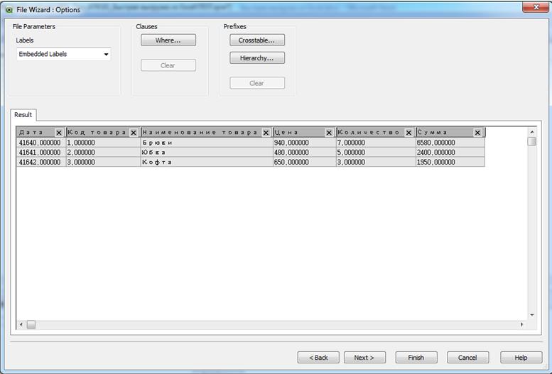 Транспонирование данных QlikView