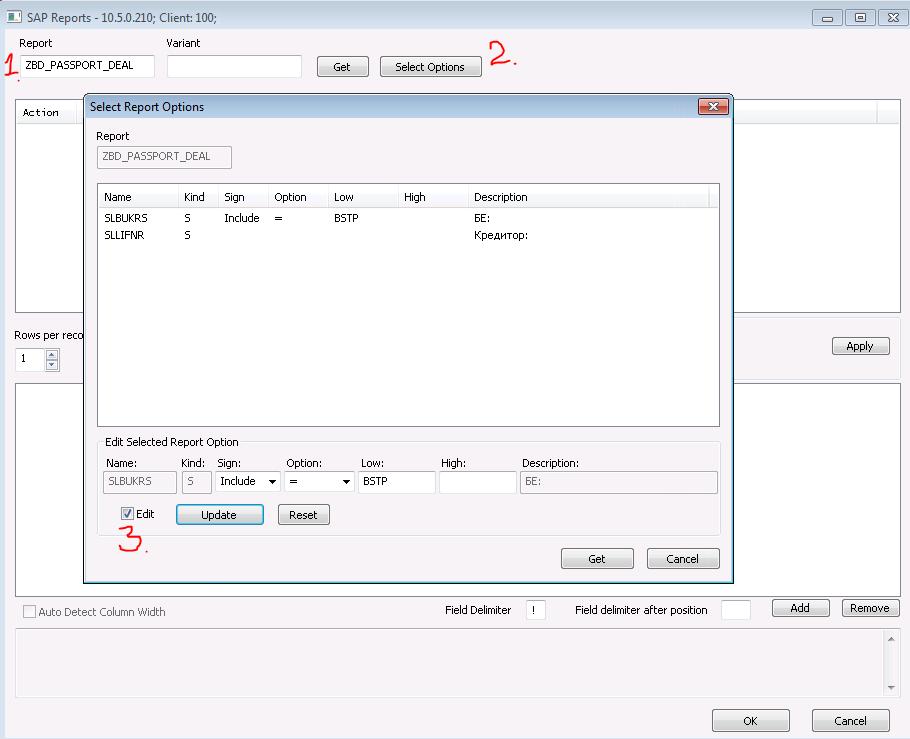 SAP Report Connector
