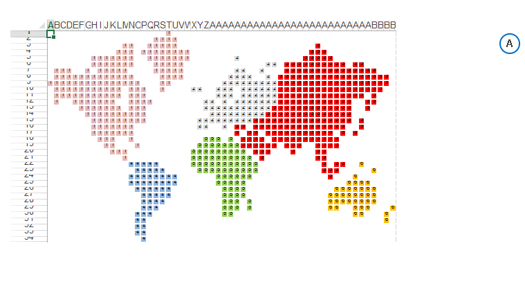 карта мира в excel