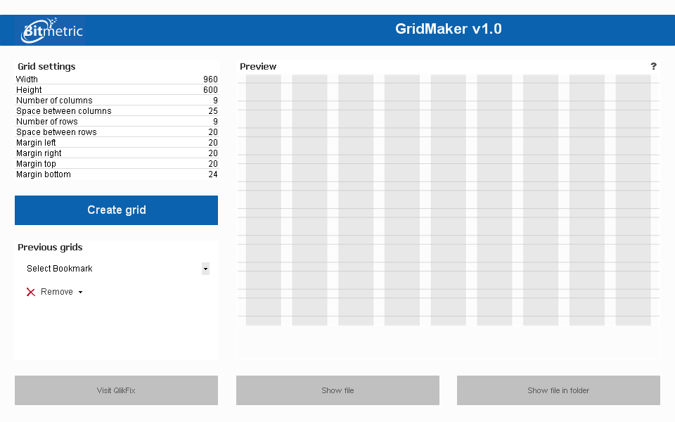 Grid Layout QlikView