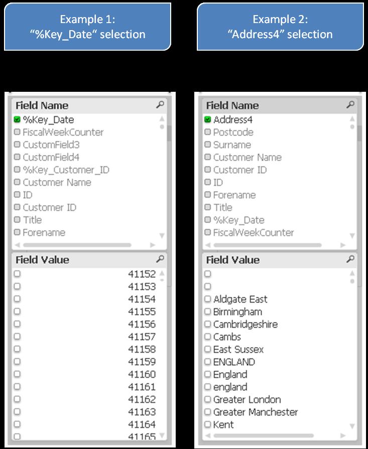 Фильтры QlikView, List Box QlikView, Named Value Pairs