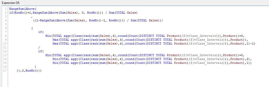 Парето-анализ в QlikView