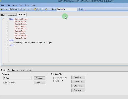 Группировка данных в Qlik