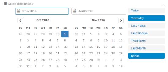 qlik sense extensions - date range picker