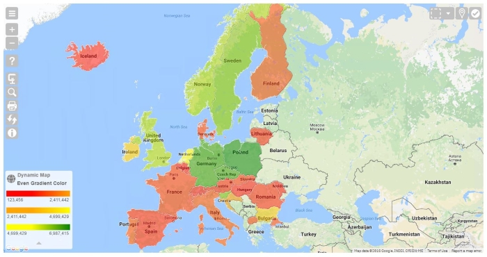 NPGeoMap - Boundary Map Europe