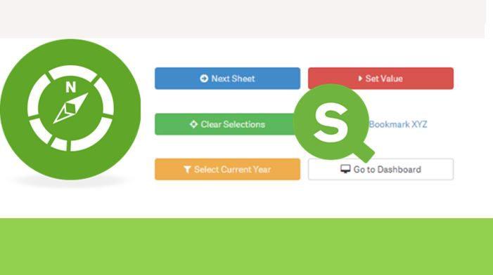Как создать кнопки переключения в Qlik Sense