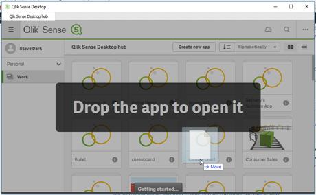 Drop Qlik Sense App To Open In Situ