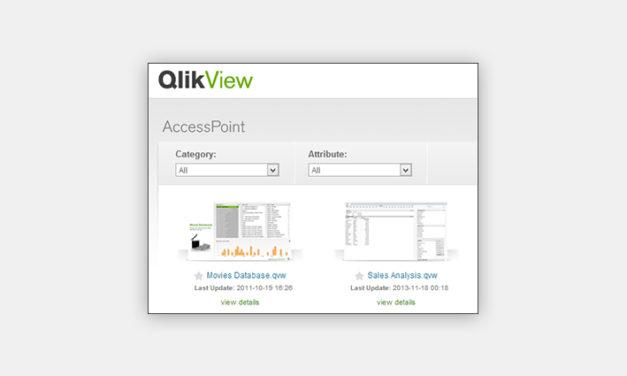 Красивый и понятный Access Point в QlikView и Хаб Qlik Sense