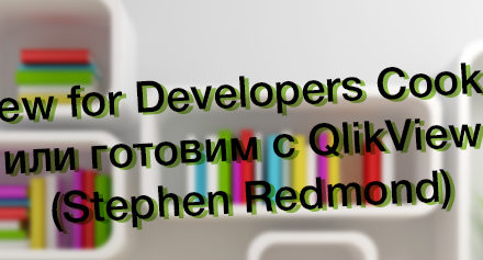 Обзор книги «QlikView for Developers Cookbook», или готовим с QlikView (Stephen Redmond)